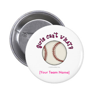 Baseball-Pink 6 Cm Round Badge