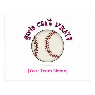 Baseball-Pink Postcard