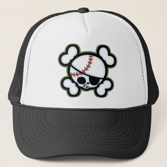 Baseball Pirate -kids Trucker Hat
