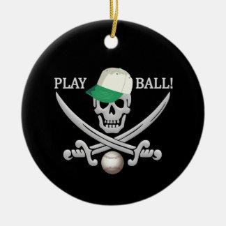 Baseball Pirate ornament