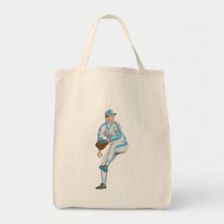 Baseball Pitcher Canvas Bag