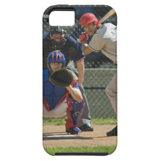 Baseball pitcher, batter and umpire in ready case for the iPhone 5