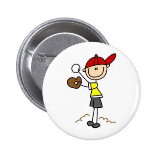 Baseball Pitcher Button