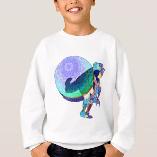 Baseball Pitcher In Motion And Abstract Sweatshirt