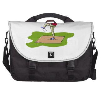 Baseball Pitcher Laptop Computer Bag