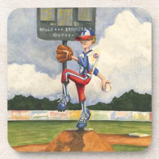 Baseball Pitcher on Mound by Jay Throckmorton Coaster
