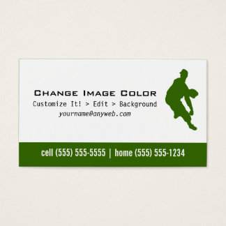Baseball Pitcher - Personal Business Card
