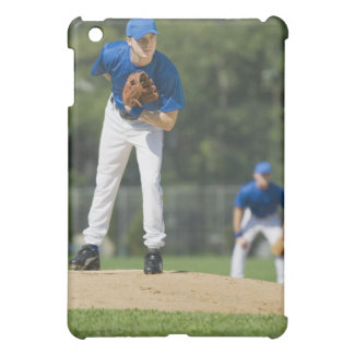 Baseball pitcher preparing to pitch ball iPad mini cover