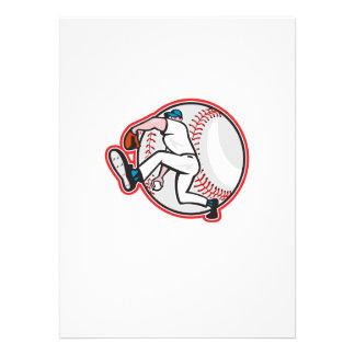 Baseball Pitcher Throw Ball Cartoon Personalised Invitations