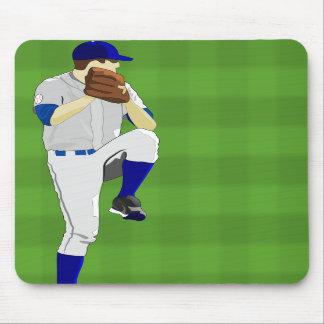 Baseball Pitcher Windup Mousepad