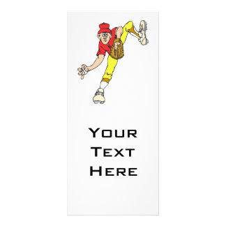 baseball pitcher windup rack card