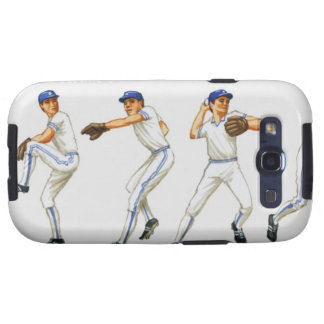 Baseball pitching technique, multiple image galaxy s3 cover