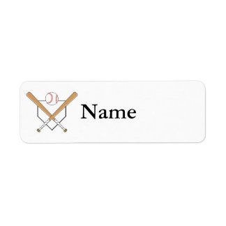 Baseball Plate Logo Return Address Label
