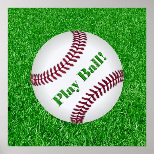 """Baseball """"Play Ball!"""" Poster"""
