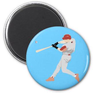 Baseball Player 6 Cm Round Magnet