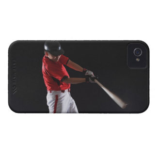 Baseball player about to hit the ball iPhone 4 cases