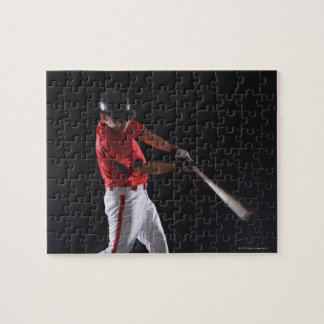 Baseball player about to hit the ball jigsaw puzzle