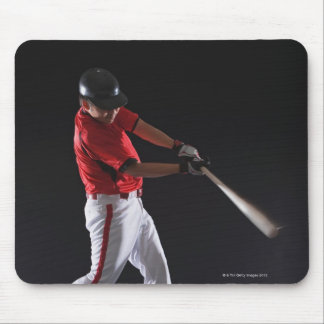 Baseball player about to hit the ball mouse mat