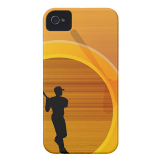 Baseball player about to swing, silhouette iPhone 4 cover