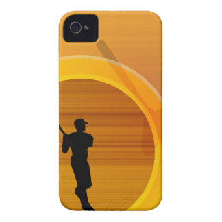 Baseball player about to swing, silhouette iPhone 4 covers