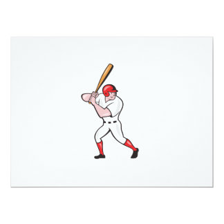 Baseball Player Batting Side Isolated Cartoon Announcements