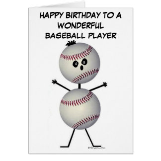 Baseball Player Birthday Card