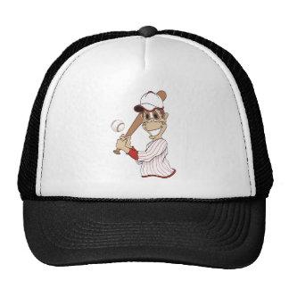 Baseball Player Cartoon Cap