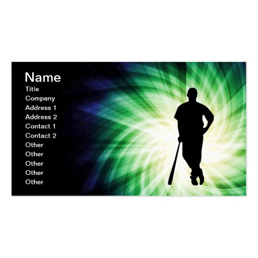 Baseball Player; Cool Business Cards