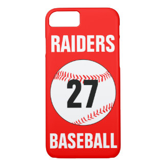 Baseball Player Custom Jersey Number & Color Case