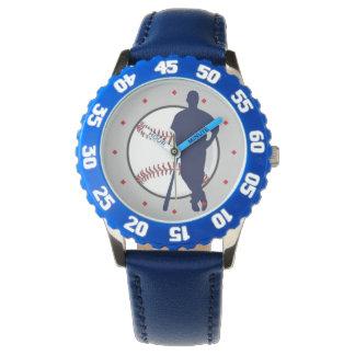 Baseball Player Diamond Tick Wrist Watch