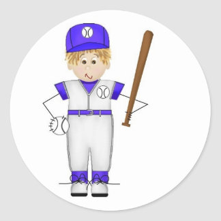 Baseball Player Doodle Stickers