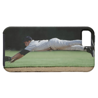 Baseball player in mid-air catching ball. iPhone 5 cases