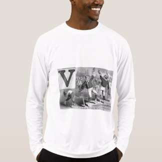 Baseball Player Initial V Rhyme Vintage Victor T-Shirt