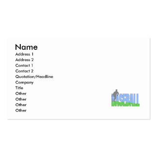 Baseball Player Logo Business Cards
