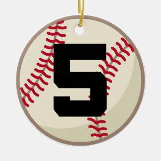 Baseball number decorations baseball number tree decorations for Number 5 decorations