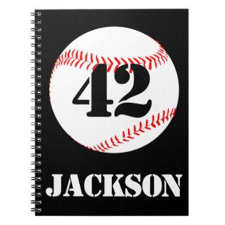 Baseball Player or Team Custom Notebooks