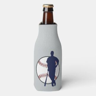 Baseball Player Personalized Bottle Cooler