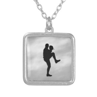 Baseball Player Pitcher Silver Plated Necklace