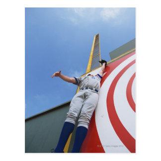 Baseball Player Reaching for Ball Postcard