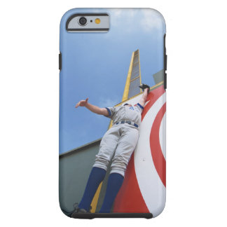 Baseball Player Reaching for Ball Tough iPhone 6 Case