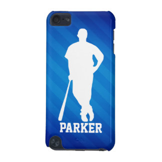 Baseball Player; Royal Blue Stripes iPod Touch (5th Generation) Case