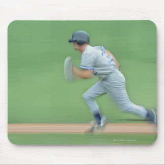 Baseball Player Running to Base Mouse Pad