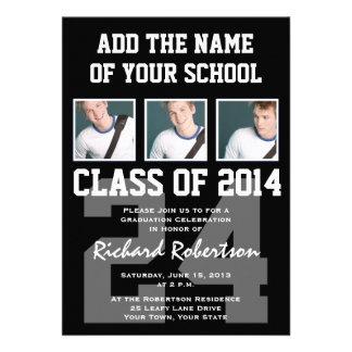 Baseball Player s Graduation Class of 2014 Varsity Personalized Invitations