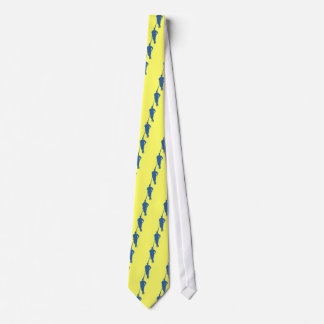 Baseball Player Silhouette Neck Tie