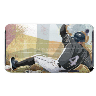 Baseball Player Sliding 2 Barely There iPod Cover