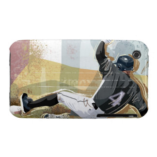 Baseball Player Sliding 2 iPhone 3 Case-Mate Case