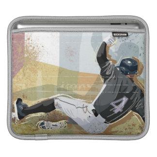 Baseball Player Sliding 2 iPad Sleeve