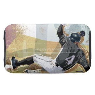 Baseball Player Sliding 2 iPhone 3 Tough Covers