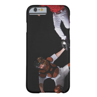 Baseball player sliding into a base barely there iPhone 6 case