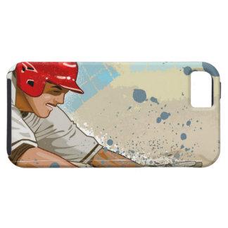 Baseball player sliding into base iPhone 5 case